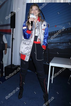 f6b570bc32a5 Gigi Hadid x Tommy Hilfiger watch collection Stock Photos (Exclusive ...