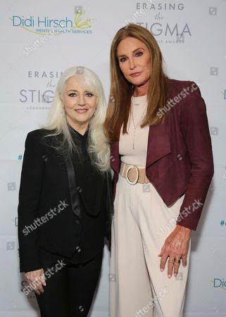 Cynthia Germanotta, Caitlyn Jenner. Cynthia Germanotta and Caitlyn Jenner seen at the 2018 Erasing the Stigma Leadership Awards at the Beverly Hilton Hotel on Thursday, April 26, in Beverly Hills, Calif