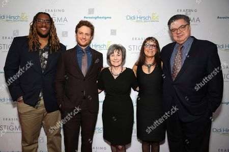 Joe Barksdale, Nick Gehlfuss, Kita S. Curry, Laura Ornest, Oliver Platt. Joe Barksdale, Nick Gehlfuss, Dr. Kita S. Curry - President/CEO Didi Hirsch Mental Health Services, Laura Ernest and Oliver Platt seen at the 2018 Erasing the Stigma Leadership Awards at the Beverly Hilton Hotel on Thursday, April 26, in Beverly Hills, Calif