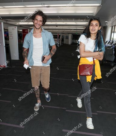 Stock Picture of Tyler Posey and Sophia Taylor Ali