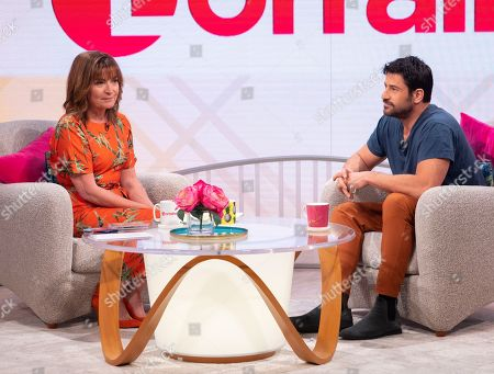 Lorraine Kelly and Alexis Georgoulis