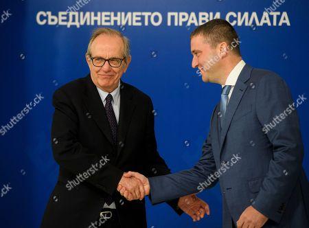 Vladislav Goranov and Pier Carlo Padoan