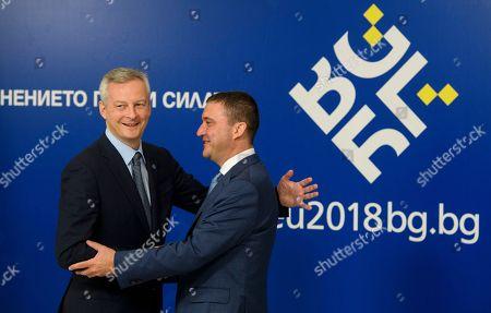 Vladislav Goranov and Bruno Le Maire