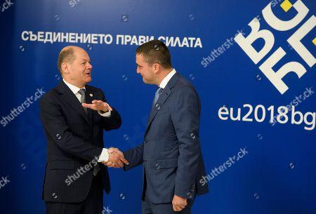 Vladislav Goranov and Olaf Scholz