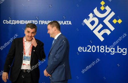 Editorial picture of European Union informal meeting of economic and financial affairs ministers, Sofia, Bulgaria - 27 Apr 2018