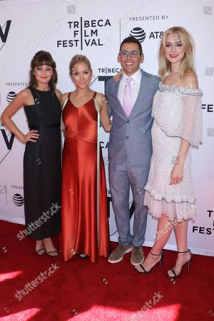 Ella Purnell, Stephanie Danler, Creator/Writer/Executive Producer, Stuart Zicherman, Showrunner/Executive Producer/Director and Caitlin Fitzgerald
