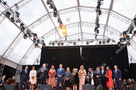 Dutch Royal Family, King Willem-Alexander and Queen Maxima with their daughters Princess Amalia, Princess Alexia and Princess Ariane, Prince Constantijn and Princess Laurentien, Prince Maurits and Princess Marilene, Prince Pieter-Christiaan and Princess Anita, Prince Bernhard and Princess Annette, Prince Floris and Princess Aimee
