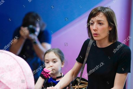 Stock Image of Anna Ortiz wife of Andres Iniesta as Andres Iniesta announces his departure from Barcelona after 22 years