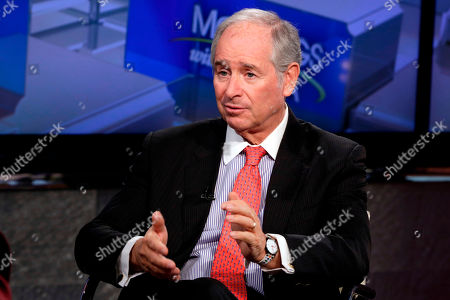 "Stock Picture of The Blackstone Group Chairman & CEO Stephen A. Schwarzman is interviewed by Maria Bartiromo during her ""Mornings with Maria Bartiromo"" program, on the Fox Business Network, in New York"