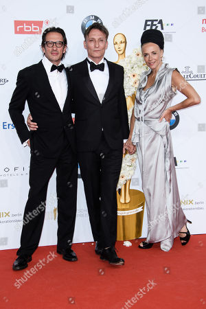 Stock Image of Oskar Roehler, Oliver Masucci and Katja Riemann