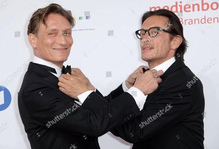 Stock Picture of Oliver Masucci and Oskar Roehler