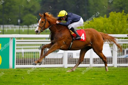 Crystal Hope and William Buick win the Nordoff Robbins David Enthoven Memorial Fillies Stakes at Sandown.