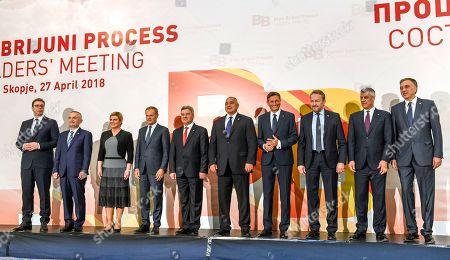 Editorial image of Brdo-Brijuni Process Leaders' Meeting in Skopje, Macedonia, The Former Yugoslav Republic Of - 27 Apr 2018