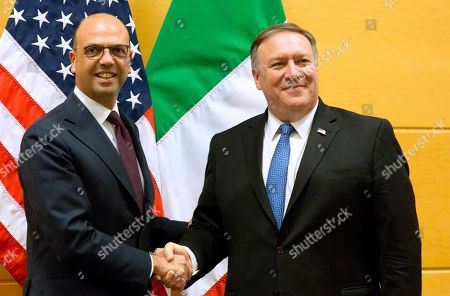 Mike Pompeo and Angelino Alfano