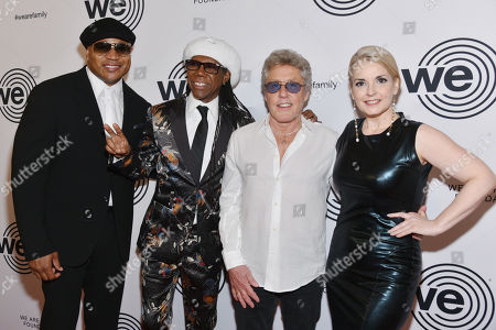 LL Cool J, Nile Rodgers, Roger Daltrey and Nancy Hunt