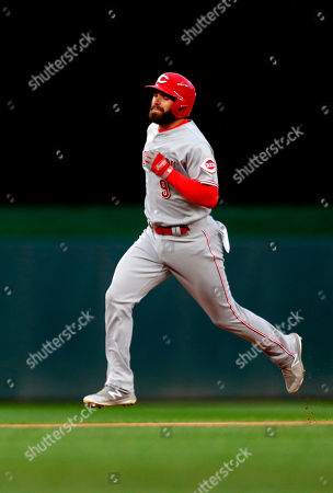 Jose Paraza. Cincinnati Reds' Jose Peraza rounds the bases on a solo home run off Minnesota Twins pitcher Phil Hughes in the first inning of a baseball game, in Minneapolis