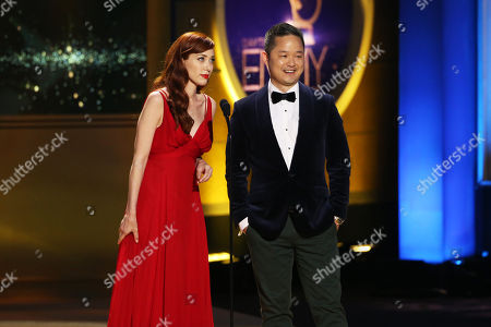 Stock Photo of Alie Ward and Danny Seo