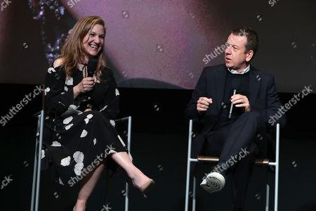 Moderator, Krista Smith and Creator/Exec. Producer/Writer Peter Morgan