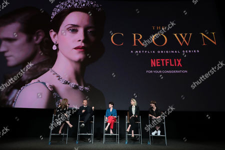 Editorial image of Netflix original series 'The Crown' ATAS Official Screening and Panel at the Wolf theater at Saban Media Center, Los Angeles, USA - 27 Apr 2018