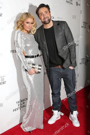 Paris Hilton and Bert Marcus (Director)