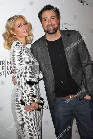 Stock Image of Paris Hilton and Bert Marcus (Director)