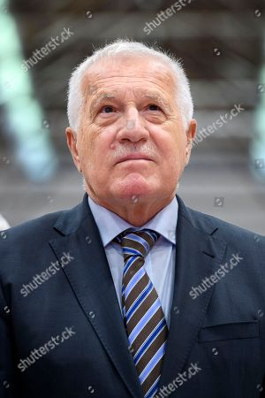 Former Czech president Vaclav Klaus attends the meeting of the Campaign for an Independent and Neutral Switzerland (AUNS) in Bern, Switzerland, 28 April 2018. Klaus is a guest to the meeting of the Swiss organisation that opposes any rapprochement with the EU, and a participation of the Swiss army in missions abroad. It had campaigned against Switzerland's accession to the UN, bilateral treaty packages with the EU, among others.