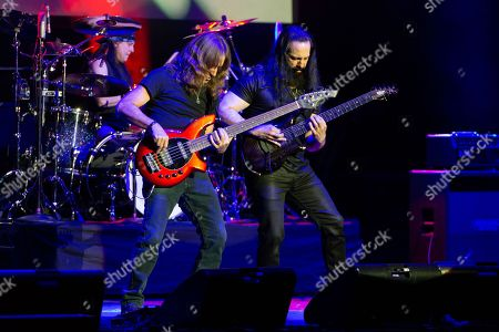 Editorial picture of John Petrucci in concert, O2 Apollo, Manchester, UK - 27 Apr 2018