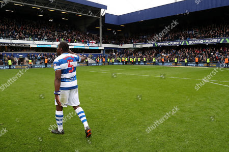 Nedum Onuoha of QPR during a lap of honour after his last game for the club