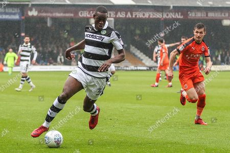 Forest Green Rovers Isaiah Osbourne(34) runs forward during the EFL Sky Bet League 2 match between Luton Town and Forest Green Rovers at Kenilworth Road, Luton. Picture by Shane Healey