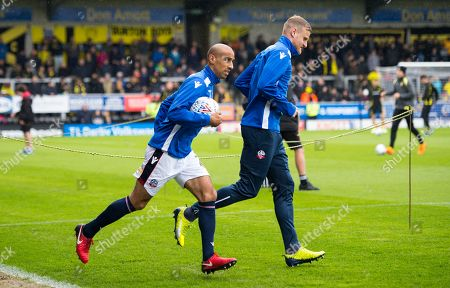 Stock Image of Karl Henry of Bolton Wanderers enters the pitch to warm up