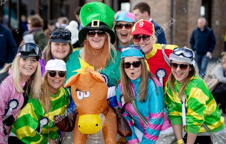 Stock Image of Kirsten Bishop, April Jones, Zoe Lewis, Sarah Barrington, Katie Eckley, Zoe Barry, Lisa Greenow and Kim Davis all from Brecon Beacons, Wales