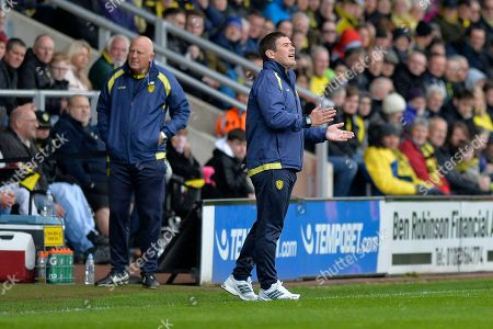Burton Albion manager Nigel Clough in action during the EFL Sky Bet Championship match between Burton Albion and Bolton Wanderers at the Pirelli Stadium, Burton upon Trent. Picture by Richard Holmes