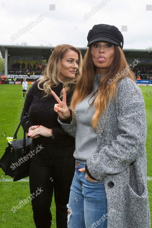 Kerry Katona on the pitch prior to the EFL Sky Bet Championship match between Burton Albion and Bolton Wanderers at the Pirelli Stadium, Burton upon Trent. Picture by Richard Holmes