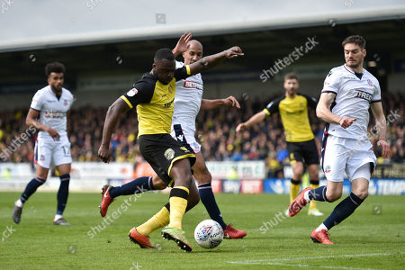 Stock Picture of Burton Albion midfielder Hope Akpan (21) scores a goal to make the score 1-0 during the EFL Sky Bet Championship match between Burton Albion and Bolton Wanderers at the Pirelli Stadium, Burton upon Trent. Picture by Richard Holmes