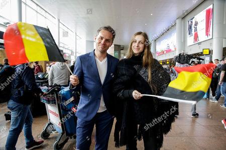 Stock Photo of Peter Van de Veire and Laura Croeseneken (Sennek)
