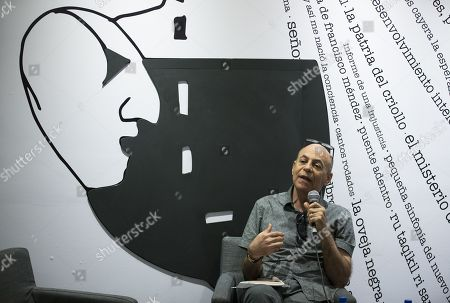 Stock Photo of Guatemalan writer David Unger speaks during a conference at the XXI International Book Fair in Santo Domingo, Dominican Republic, 28 April 2018.