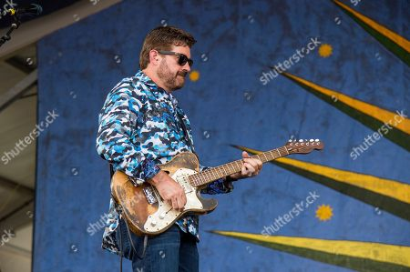 Tab Benoit of Voice of the Wetlands All-Stars performs at the New Orleans Jazz and Heritage Festival, in New Orleans