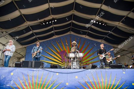 Johnny Sansone, Tab Benoit, Cyril Neville, Anders Osborne, George Porter Jr. Johnny Sansone, from left, Tab Benoit, Cyril Neville, Anders Osborne and George Porter Jr. of Voice of the Wetlands All-Stars performs at the New Orleans Jazz and Heritage Festival, in New Orleans