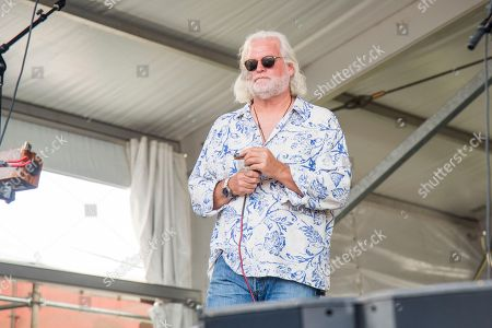 Johnny Sansone of Voice of the Wetlands All-Stars performs at the New Orleans Jazz and Heritage Festival, in New Orleans
