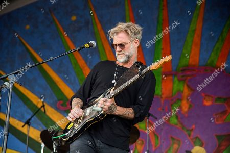 Anders Osborne of Voice of the Wetlands All-Stars performs at the New Orleans Jazz and Heritage Festival, in New Orleans