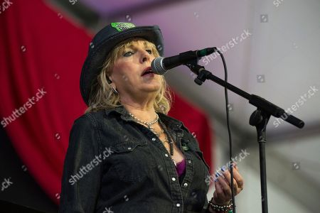Lucinda Williams performs at the New Orleans Jazz and Heritage Festival, in New Orleans
