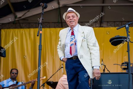 Fats Domino, Deacon John. Deacon John performs during the Tribute to Fats Domino at the New Orleans Jazz and Heritage Festival, in New Orleans