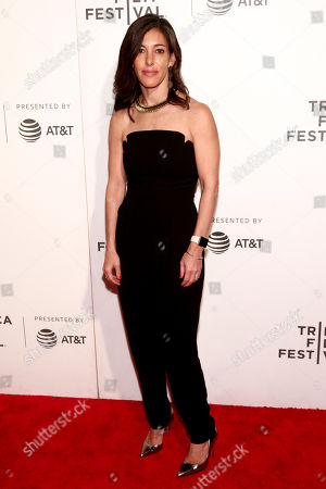 """Stock Image of Julie Davis attends a screening of """"The Fourth Estate"""" at the BMCC Tribeca PAC during the 2018 Tribeca Film Festival, in New York"""