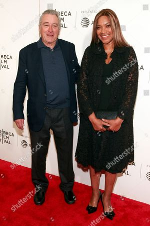 """Robert De Niro, Grace Hightower. Robert De Niro, left, and Grace Hightower attend a screening of """"The Fourth Estate"""" at the BMCC Tribeca PAC during the 2018 Tribeca Film Festival, in New York"""