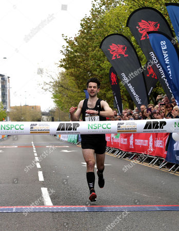 James Carpenter wins the Newport Wales Marathon.