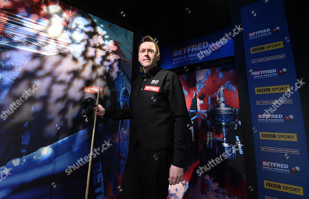 Ricky Walden of England waits backstage before his second round match