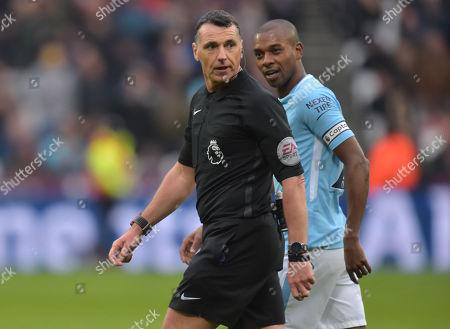 Editorial photo of West Ham United v Manchester City, Premier League, London Stadium, City, UK - 29 Apr 2018