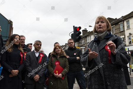 Labour Party MP Harriet Harman campaigns together with candidates and activists in Wandsworth ahead of 3rd of May 2018 Local Elections.