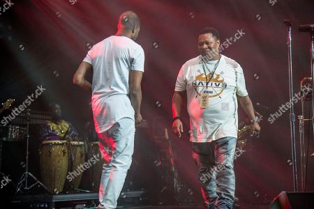 Stock Image of Mannie Fresh, Trombone Shorty. Mannie Fresh, left, and Trombone Shorty perform at the Trombone Shorty & Orleans Avenue Treme Threauxdown at the Saenger Theatre, in New Orleans