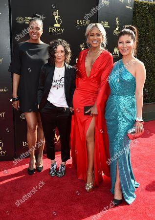 Aisha Tyler, Sara Gilbert, Eve and Julie Chen
